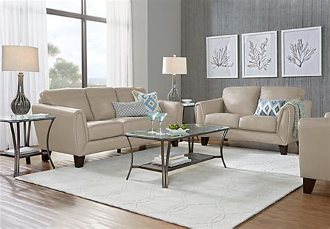 livorno beige leather  pc living room