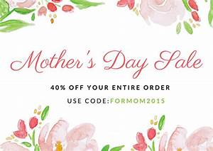 Painted Flowers Mother's Day Sale Card - Templates by Canva