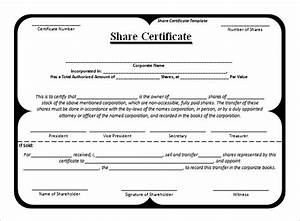 share stock certificate template 21 free word pdf With shareholders certificate template free