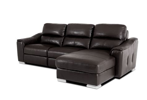 modern brown leather sectional sofa by vig divani 1710