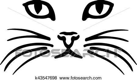 cat face clip art  fotosearch