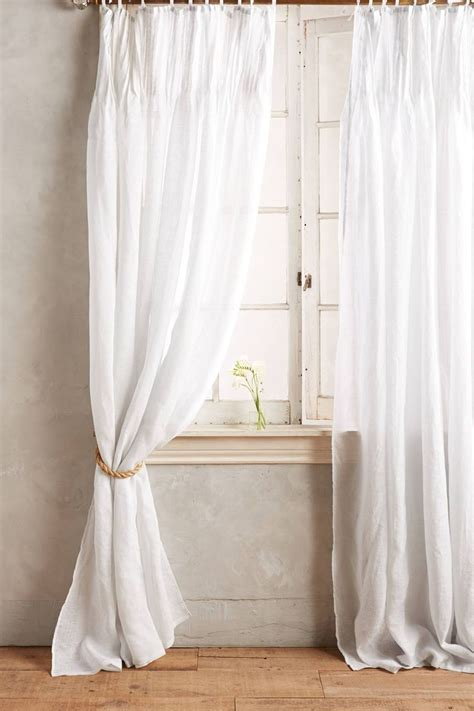 white tie top curtains free image