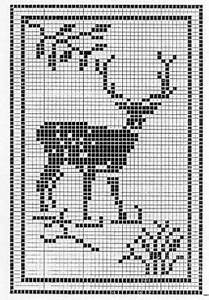 Cowboy Applique Designs Reindeer In The Forest Doily Free Crochet Pattern Not
