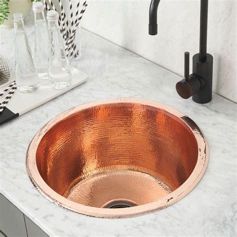 kitchen bar sinks redondo grande copper bar sink cps251 trails 2285