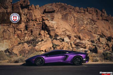 Purple Lamborghini Aventador Sv On Hre Wheels