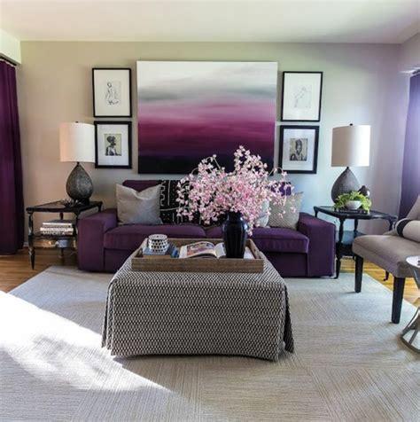 tableau d馗oration chambre adulte 1001 idées pour la décoration d 39 une chambre gris et violet