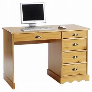 Bureau En Pin : bureau en pin colette lasur couleur miel mobil meubles ~ Teatrodelosmanantiales.com Idées de Décoration
