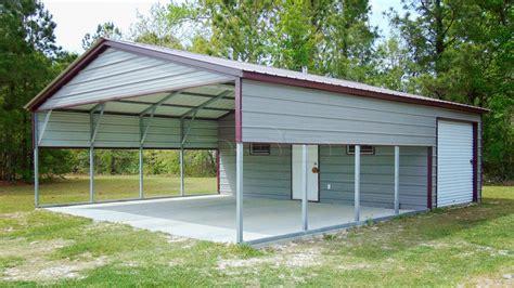 18x36 Metal Carport With Storage