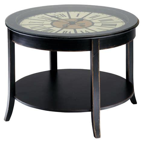 deco pour chambre ado garcon table basse horloge en bois l 72 cm teatime