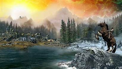Skyrim Backgrounds Computer Wallpapers Scenery Desktop Background