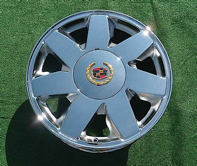 brand   chrome cadillac deville dts   factory spec wheel  ebay
