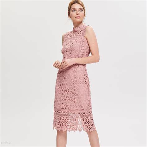 reserved sukienka z gipiury r 243 żowy ceny i opinie projektniejest pl