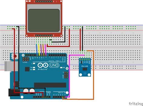 diy light meter using bh1750 sensor arduino and nokia 5110 electronics lab