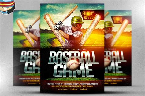 baseball flyer template flyer templates creative market