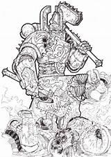 Khorne Warhammer 40k Space Marine Fantasy Berzerkers Deviantart Th01 Colour Chaos Coloriage Coloring Hammer Kriegshammer Warrior Adult Drawings Tattoo War sketch template
