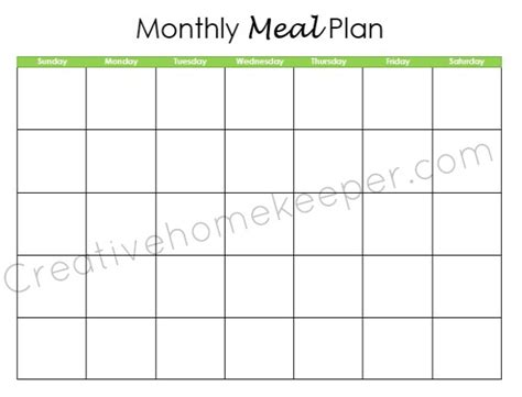 monthly meal planner template monthly dinner menu calendar template search results