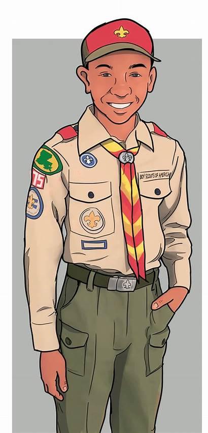 Boy Scout Scouts Final Illustration