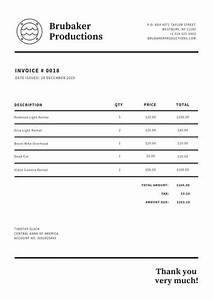 Black Invoice Template Customize 180 Invoice Templates Online Canva