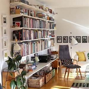 étagère Murale Bibliothèque : d co maison une biblioth que avec des tag res et des querres ranger livres sh ko ~ Teatrodelosmanantiales.com Idées de Décoration