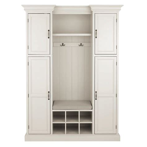 Hallway Organization And Entryway Furniture Collection by Home Decorators Collection Royce Polar White Tree