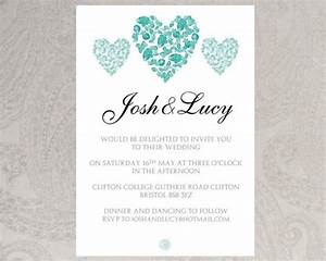 wedding invitation template trio of hearts download With template for wedding invitations in microsoft word