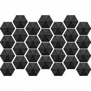 stickers carreaux de ciment hexagones design noir salle With carreaux de ciment design