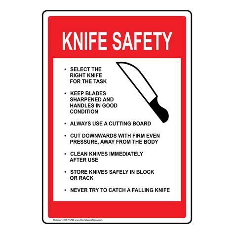 Kitchen Safety Labels by Ada Knife Safety Sign Nhe 15728 Food Prep Kitchen Safety