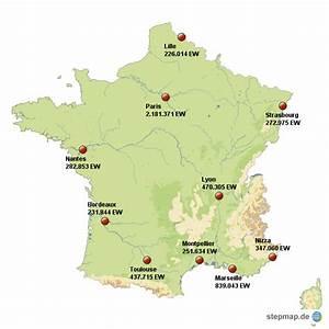 Schöne Städte In Frankreich : stepmap frankreich gr te st dte landkarte f r frankreich ~ Buech-reservation.com Haus und Dekorationen