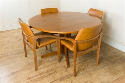 retro dining table with leaf vintage retro teak drop leaf dining table and 4 7778