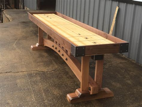 making a shuffleboard table buy a custom craftsman shuffleboard table made to order