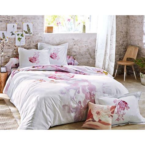 housse de couette fleurs de pommier pastel imprim 233 becquet linge de maison 3suisses