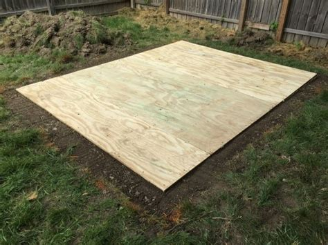 how to level a shed build a shed floor with pressure treated wood