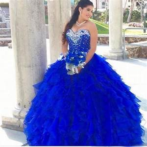 Royal Blue Beading Quinceanera Dress Ball Gown Prom Party ...