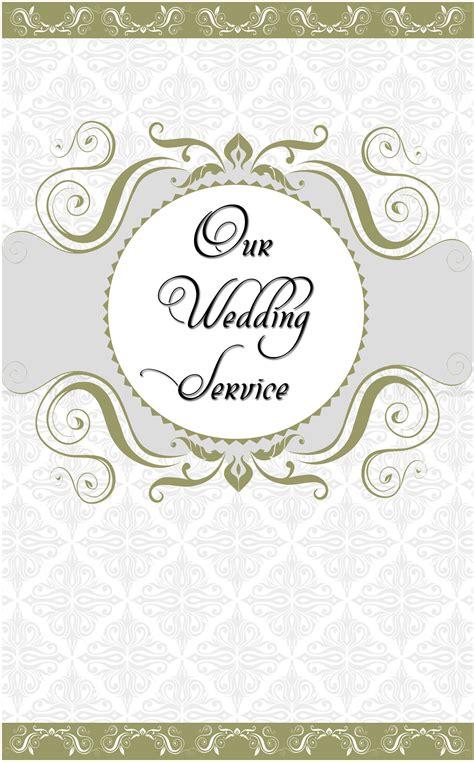 wedding program cover template