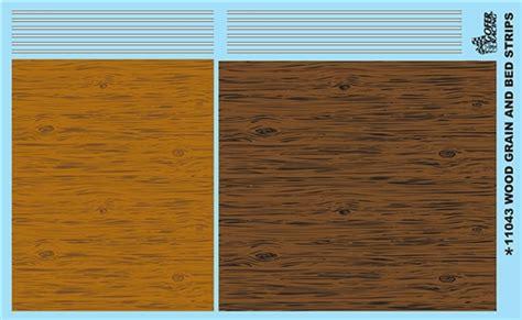 wood grain  bed strips model car decal sheett model car