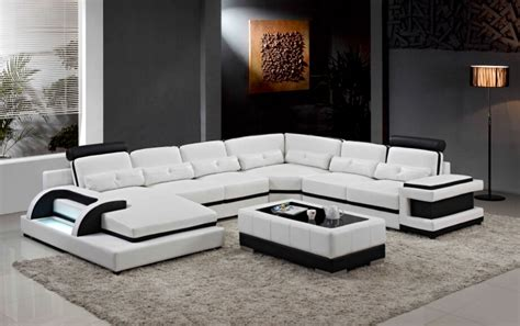 large corner leather sofa  modern sectional sofa