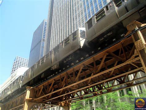 world travel images chicago  train loop subway cta