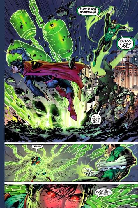 superman vs green lantern new 52 comicnewbies