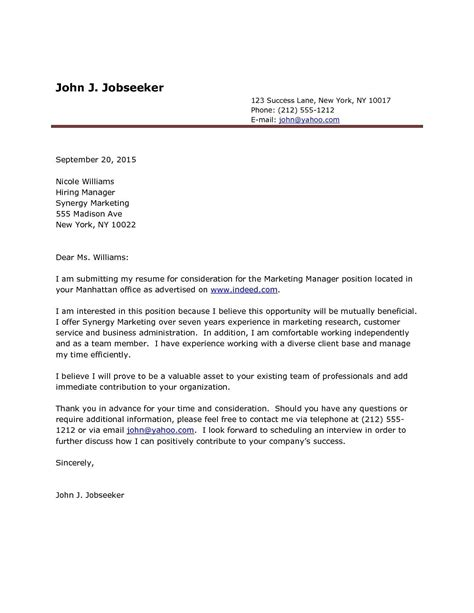 Sle Cover Letter For Application Doc by Sle Cover Letter Doc Refrence Cover Letter
