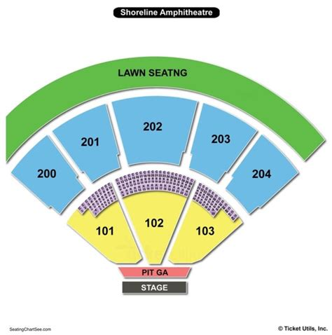 Shoreline Amphitheatre Seating Chart | Seating Charts and ...