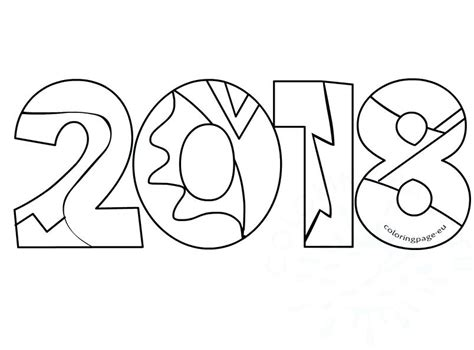 New Years Coloring Pages 2018 At Getcolorings.com