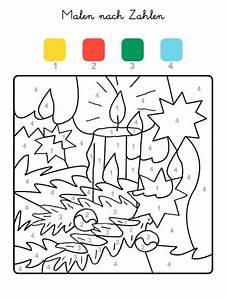 Adventskalender Zahlen Mathe : kostenlose malvorlage malen nach zahlen weihnachtskerze ausmalen zum ausmalen ~ Indierocktalk.com Haus und Dekorationen