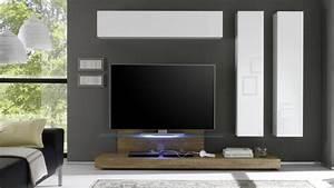 Meuble Tv Avec Etagere : meuble tv linery avec plateau verre r tro clair mobilier moss ~ Teatrodelosmanantiales.com Idées de Décoration
