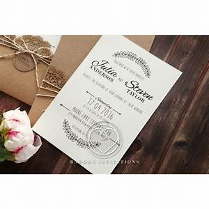 country style invitation with lace and twine pocket card With lace pocket wedding invitations uk