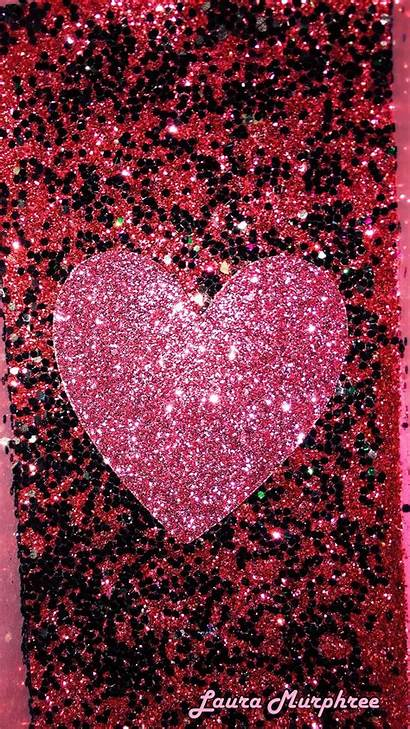 Glitter Heart Hearts Phone Sparkling Wallpapers Sparkles