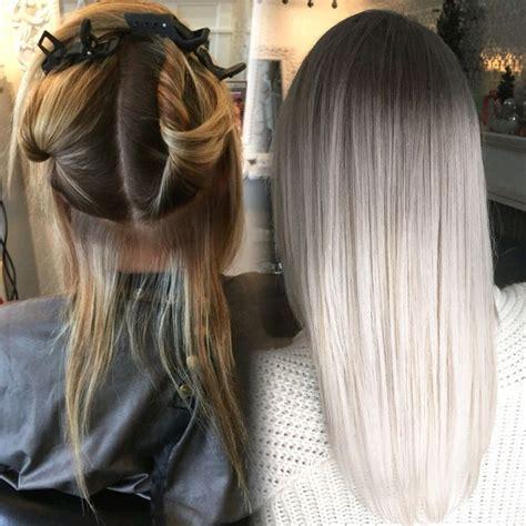 haare färben kurzzeitig die besten 25 graue frisuren ideen auf graue