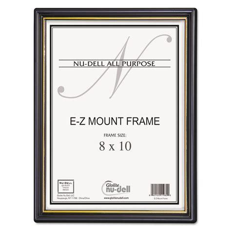 ez mount document frameaccent plastic    black