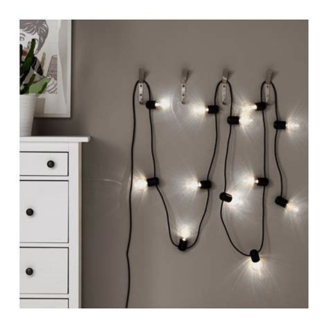 Led Lichter Einzeln by Svartr 197 Led Lighting Chain With 12 Lights Black Outdoor