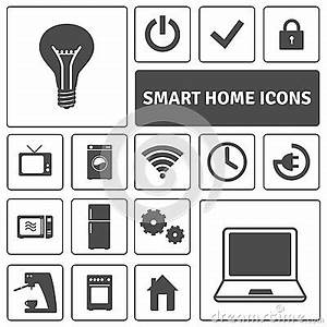 Smart Home Icon : smart home icons set stock vector image 55840390 ~ Markanthonyermac.com Haus und Dekorationen