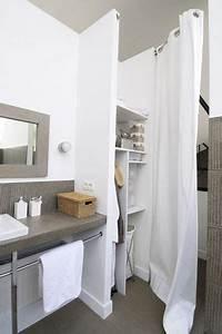 amenagement petite salle de bain 34 idees a copier With salle de bain design avec placard salle de bain